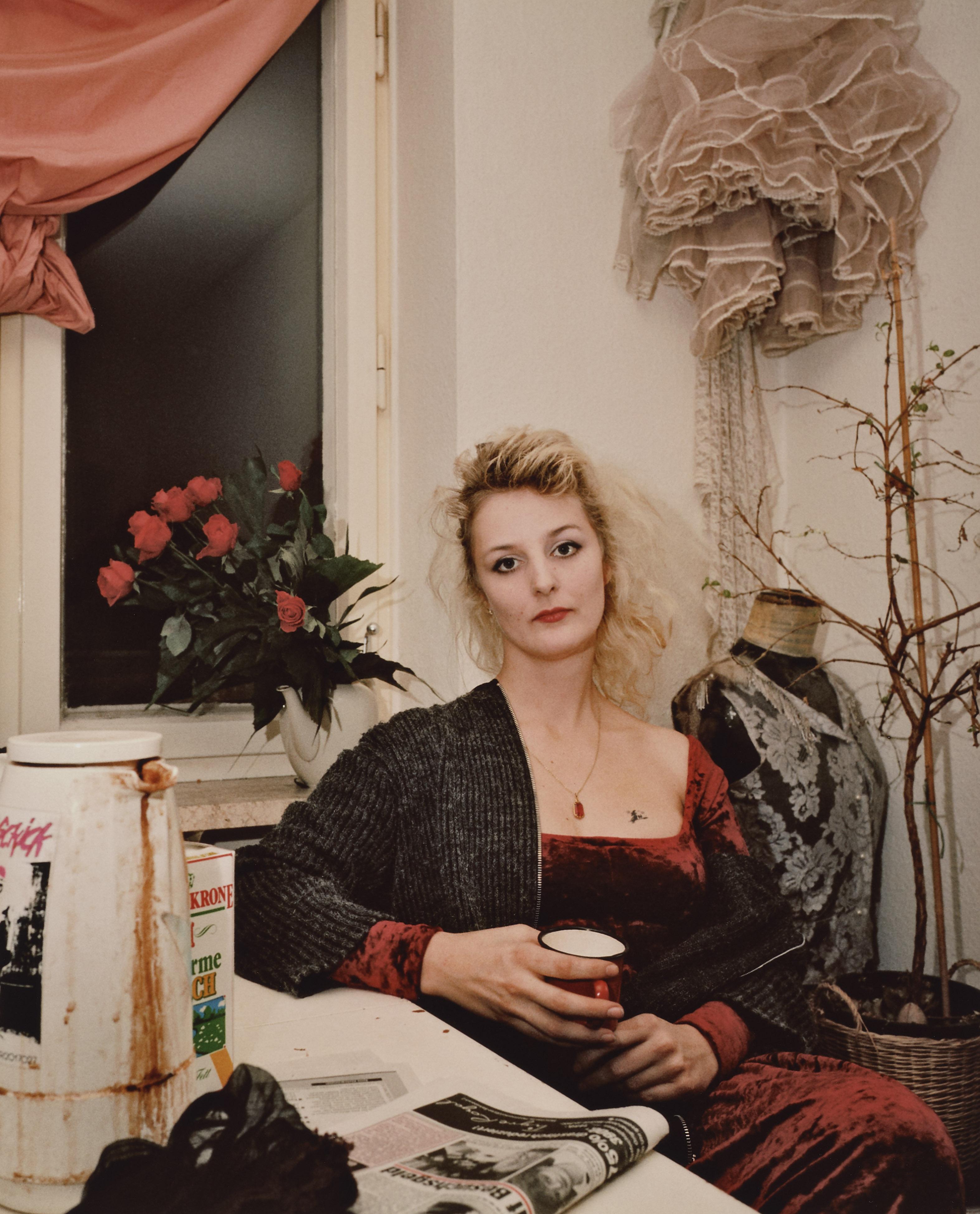 Eva Leitolf. München. Uta, aus der Serie Tanzlokalportraits. 09.12.1989.