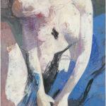 Arno Rink. Blau aus der Serie Frauen. 1998.