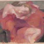 Arno Rink. Rot aus der Serie Frauen. 1998.
