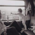 Strauss_Unterwegs im Zug nach Plauen