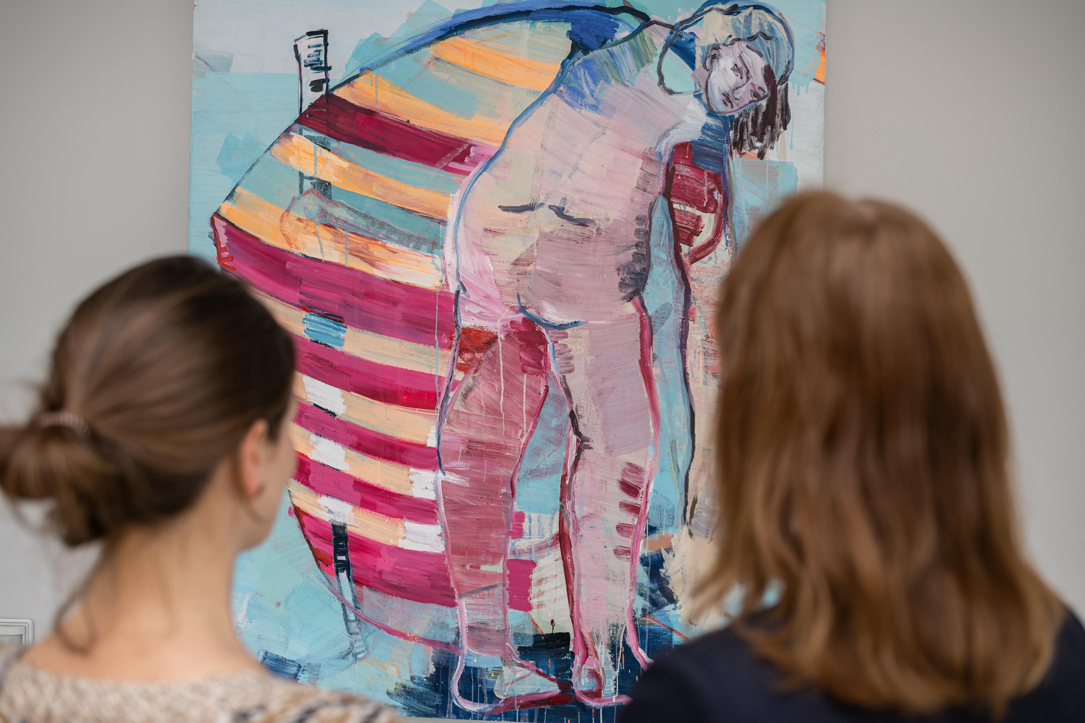 Blick auf das Werk von Claudia Rößger: o.T. (Das Segel), Foto: Eric Kemnitz