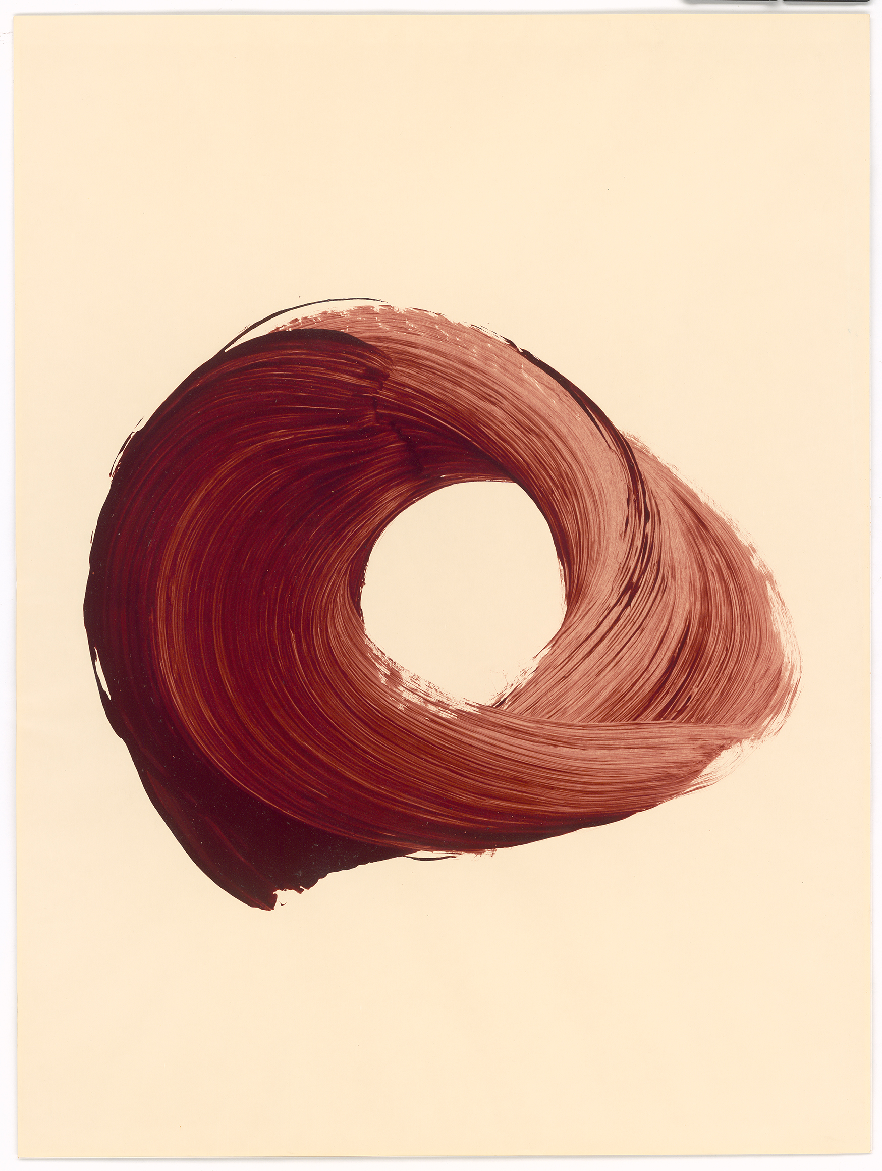 Simone Zeidler. Ohne Titel (Roter Kreis) zweiteilige Arbeit. 1996.
