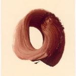 Simone Zeidler. Ohne Titel (Roter Kreis 2) zweiteilige Arbeit. 1996.